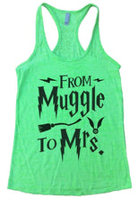 FROM Muggle To Mrs. Burnout Tank Top By Womens Tank Tops Small Womens Tank Tops Neon Green