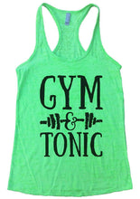 GYM & TONIC Burnout Tank Top By Womens Tank Tops Small Womens Tank Tops Neon Green