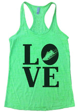 LOVE Burnout Tank Top By Womens Tank Tops Small Womens Tank Tops Neon Green