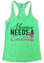 Mama Needs A Cocktail Burnout Tank Top By Womens Tank Tops Small Womens Tank Tops Neon Green