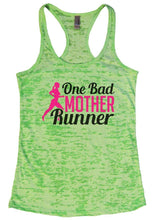 One Bad MOTHER Runner Burnout Tank Top By Womens Tank Tops Small Womens Tank Tops Neon Green