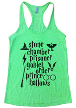 Stone Chamber Prisoner Goblet Order Prince Hallows Burnout Tank Top By Womens Tank Tops Small Womens Tank Tops Neon Green
