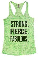 STRONG. FIERCE. FABULOUS. Burnout Tank Top By Womens Tank Tops Small Womens Tank Tops Neon Green