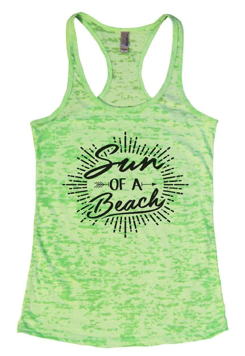 Sun OF A Beach Burnout Tank Top By Womens Tank Tops Small Womens Tank Tops Neon Green