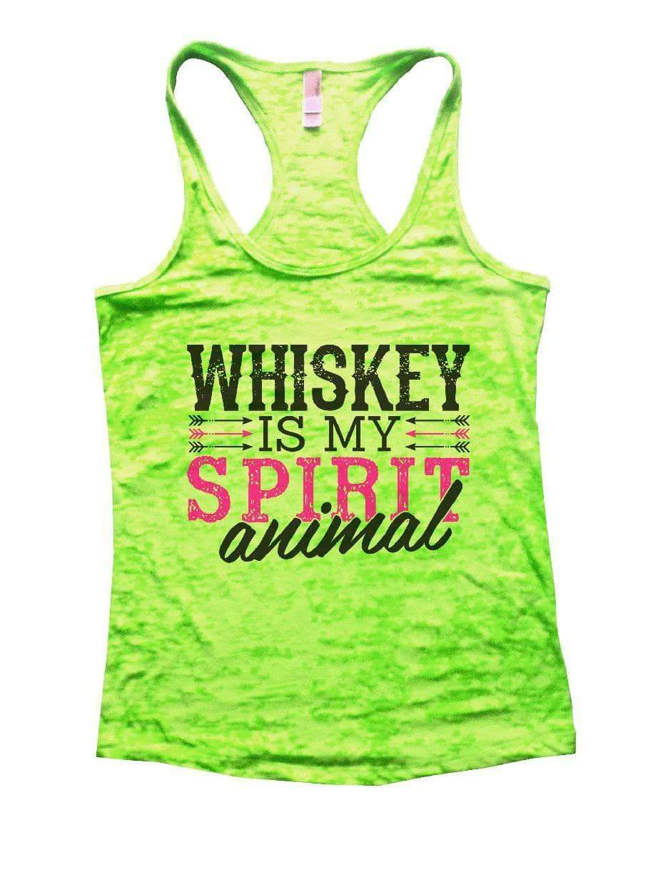 WHISKEY IS MY SPIRIT Animal Burnout Tank Top By Womens Tank Tops Small Womens Tank Tops Neon Green