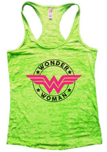 WONDER WOMAN Burnout Tank Top By Womens Tank Tops Small Womens Tank Tops Neon Green