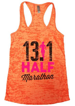 13.1 HALF Marathon Burnout Tank Top By Womens Tank Tops Small Womens Tank Tops Neon Orange