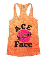 ACE In Your Face Burnout Tank Top By Womens Tank Tops Small Womens Tank Tops Neon Orange