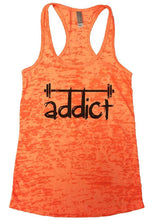 Addict Womens Burnout Tank Top By Womens Tank Tops Small Womens Tank Tops Neon Orange