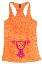 Baby Weightlifting Burnout Tank Top By Womens Tank Tops Small Womens Tank Tops Neon Orange