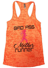 BAD ASS Mother Runner Burnout Tank Top By Womens Tank Tops Small Womens Tank Tops Neon Orange