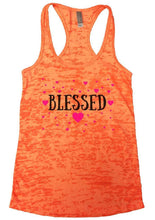 BLESSED Burnout Tank Top By Womens Tank Tops Small Womens Tank Tops Neon Orange