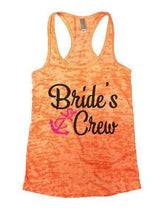 Bride's Crew Burnout Tank Top By Womens Tank Tops Small Womens Tank Tops Neon Orange