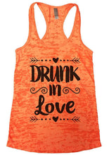 DRUNK In Love Burnout Tank Top By Womens Tank Tops Small Womens Tank Tops Neon Orange