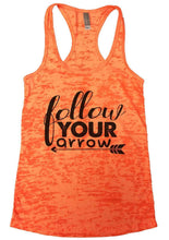 Follow Your Arrow Burnout Tank Top By Womens Tank Tops Small Womens Tank Tops Neon Orange