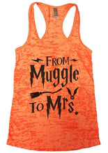 FROM Muggle To Mrs. Burnout Tank Top By Womens Tank Tops Small Womens Tank Tops Neon Orange