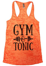 GYM & TONIC Burnout Tank Top By Womens Tank Tops Small Womens Tank Tops Neon Orange