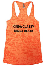 KINDA CLASSY KINDA HOOD Burnout Tank Top By Womens Tank Tops Small Womens Tank Tops Neon Orange