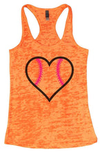 LOVE BASEBALL Burnout Tank Top By Womens Tank Tops Small Womens Tank Tops Neon Orange