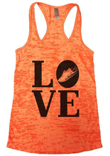 LOVE Burnout Tank Top By Womens Tank Tops Small Womens Tank Tops Neon Orange