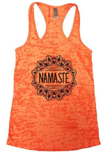 NAMASTE Burnout Tank Top By Womens Tank Tops Small Womens Tank Tops Neon Orange