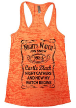 NIGHT'S WATCH JON SNOW Burnout Tank Top By Womens Tank Tops Small Womens Tank Tops Neon Orange