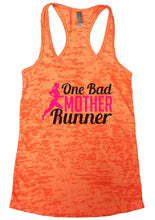 One Bad MOTHER Runner Burnout Tank Top By Womens Tank Tops Small Womens Tank Tops Neon Orange