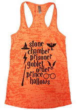 Stone Chamber Prisoner Goblet Order Prince Hallows Burnout Tank Top By Womens Tank Tops Small Womens Tank Tops Neon Orange