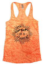 Sun OF A Beach Burnout Tank Top By Womens Tank Tops Small Womens Tank Tops Neon Orange