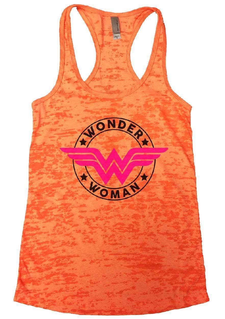 WONDER WOMAN Burnout Tank Top By Womens Tank Tops Small Womens Tank Tops Neon Orange