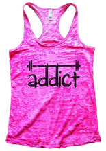 Addict Womens Burnout Tank Top By Womens Tank Tops Small Womens Tank Tops Shocking Pink