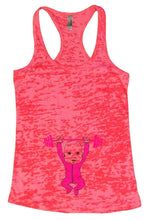 Baby Weightlifting Burnout Tank Top By Womens Tank Tops Small Womens Tank Tops Shocking Pink
