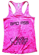 BAD ASS Mother Runner Burnout Tank Top By Womens Tank Tops Small Womens Tank Tops Shocking Pink