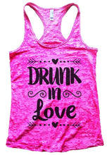 DRUNK In Love Burnout Tank Top By Womens Tank Tops Small Womens Tank Tops Shocking Pink
