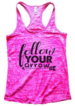 Follow Your Arrow Burnout Tank Top By Womens Tank Tops Small Womens Tank Tops Shocking Pink