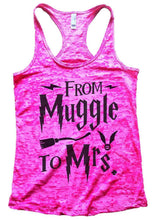 FROM Muggle To Mrs. Burnout Tank Top By Womens Tank Tops Small Womens Tank Tops Shocking Pink