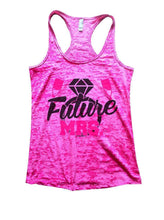 Future MRS. Burnout Tank Top By Womens Tank Tops Small Womens Tank Tops Shocking Pink