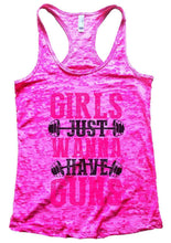 GIRLS JUST WANNA HAVE GUNS Burnout Tank Top By Womens Tank Tops Small Womens Tank Tops Shocking Pink