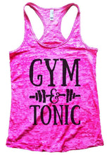 GYM & TONIC Burnout Tank Top By Womens Tank Tops Small Womens Tank Tops Shocking Pink