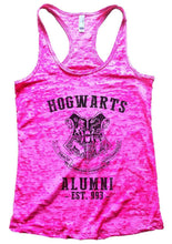 HOGWARTS ALUMNI - EST. 993 - Burnout Tank Top By Womens Tank Tops Small Womens Tank Tops Shocking Pink
