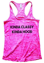 KINDA CLASSY KINDA HOOD Burnout Tank Top By Womens Tank Tops Small Womens Tank Tops Shocking Pink