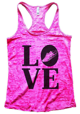 LOVE Burnout Tank Top By Womens Tank Tops Small Womens Tank Tops Shocking Pink