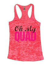 Oh My Quad Burnout Tank Top By Womens Tank Tops Small Womens Tank Tops Shocking Pink
