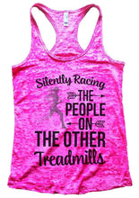 Silently Racing THE PEOPLE ON THE OTHER Treadmills Burnout Tank Top By Womens Tank Tops Small Womens Tank Tops Shocking Pink