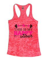 THIS IS MY HAPPY Hour Burnout Tank Top By Womens Tank Tops Small Womens Tank Tops Shocking Pink