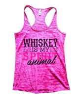 WHISKEY IS MY SPIRIT Animal Burnout Tank Top By Womens Tank Tops Small Womens Tank Tops Shocking Pink