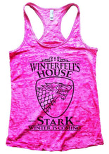 Winterfell's House Stark Winter Is Coming Burnout Tank Top By Womens Tank Tops Small Womens Tank Tops Shocking Pink
