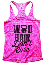 WOD HAIR Don't Care Burnout Tank Top By Womens Tank Tops Small Womens Tank Tops Shocking Pink