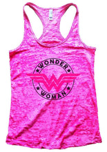WONDER WOMAN Burnout Tank Top By Womens Tank Tops Small Womens Tank Tops Shocking Pink