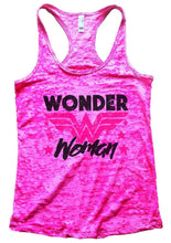 Wonder Woman Burnout Tank Sleeveless Super Hero Graphic Design Tank Small Womens Tank Tops Shocking Pink